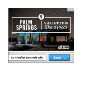 Sonora Cabin ad campaign Airbnb
